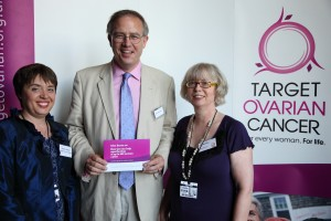John Baron MP speaks at ovarian cancer pledge campaign