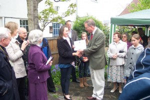 John Baron MP presents prizes at Cater Museum's 50th Anniversary celebration