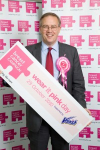 John Baron MP wears it pink to fund a cure for breast cancer