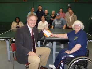 John Baron MP presents Fun Walk bonus cheque to Basildon Disabled Sports and Social Club