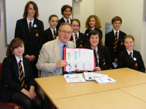 "John Baron MP receives ""Send My Sister to School"" presentation from Mayflower High School"