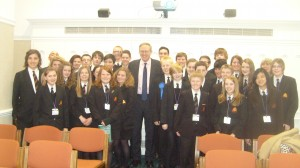 John Baron MP welcomes Mayflower High School to Parliament