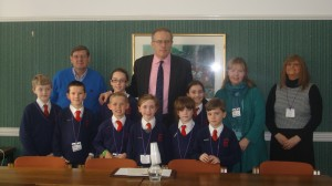 John Baron MP welcomes St Peter's Catholic Primary School to Parliament