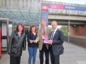 John Baron MP joins c2c for relaunch of Job Start Scheme at Basildon Station