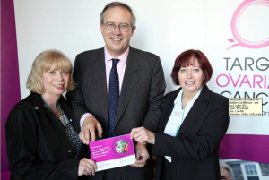 John Baron MP meets constituent at Target Ovarian Cancer Parliamentary reception