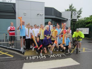 John Baron MP greets Billericay Striders and Schools for Olympic Torch Relay Event