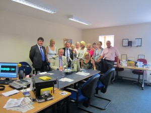 John Baron MP and colleagues read for Wickford Talking Newspapers