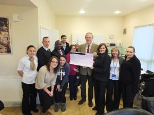 John Baron MP presents £5,000 Fun Walk cheque to Ronald McDonald House at Basildon Hospital