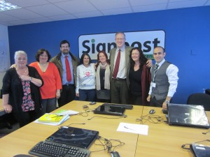 John Baron MP visits Signpost Work Club in Craylands
