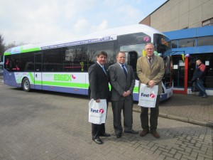 John Baron MP attends First Bus Essex Hybrid Launch