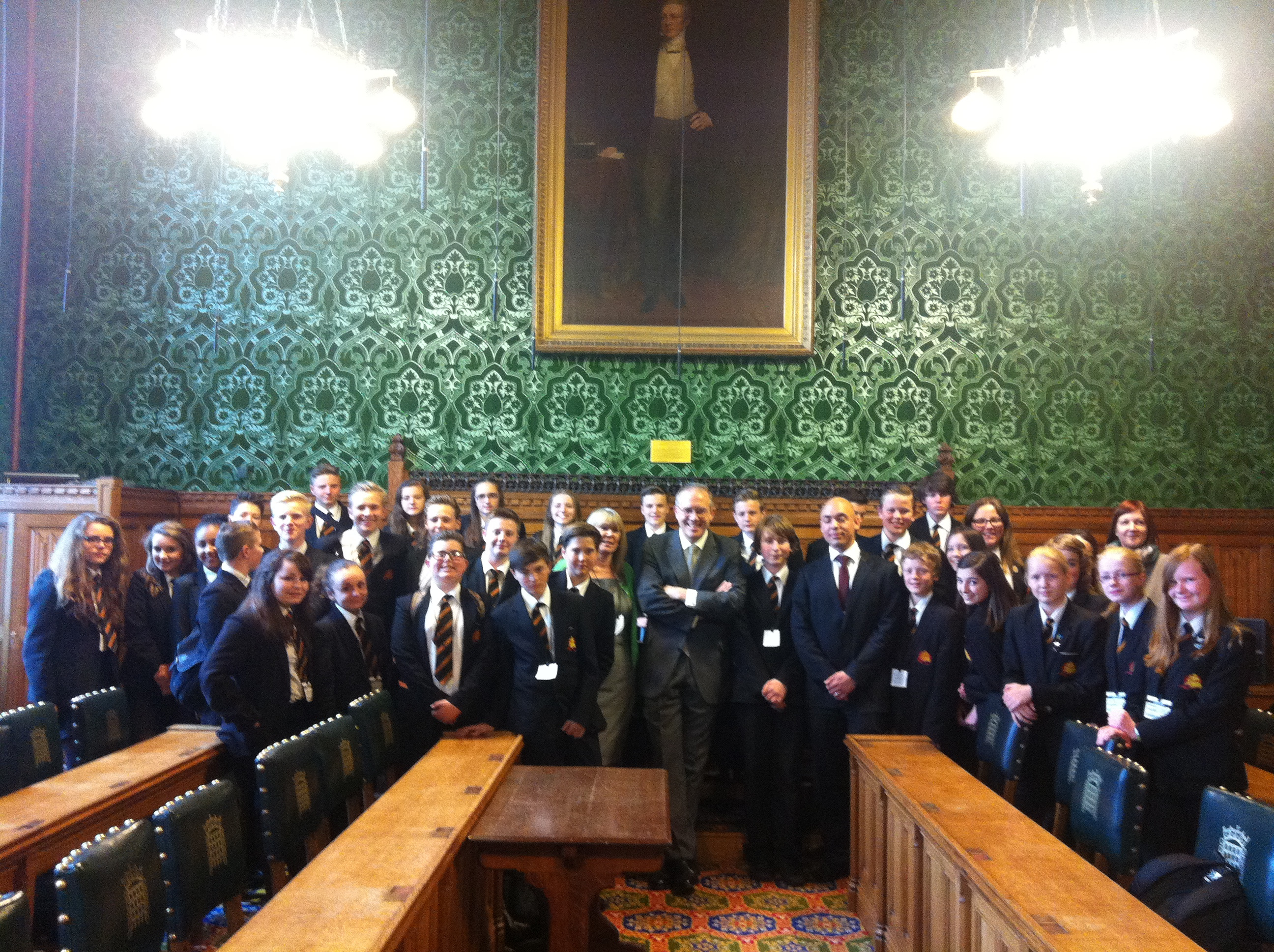 John Baron Mp Welcomes Mayflower High School To The Houses