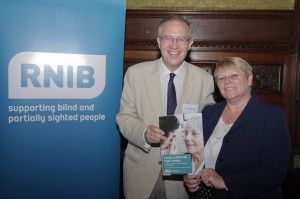 John Baron MP speaks at RNIB Parliamentary reception about postcode lottery