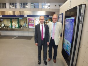 John Baron MP officially opens the new booking hall at Basildon Rail Station