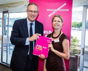 John Baron MP supports Breakthrough Breast Cancer reception