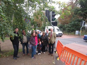 John Baron MP, Quilter's School Headteacher, parents and Essex Highways meet over dangerous crossing
