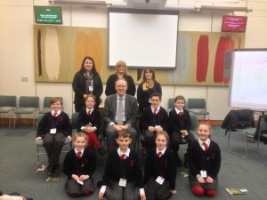 John Baron MP holds Q&A session with St Peter's Catholic Primary School in Parliament