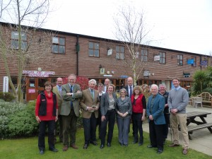 John Baron MP, Vicky Ford MEP, Geoffrey Van Orden MEP and Cllr Tony Hedley visit Barleylands Farm