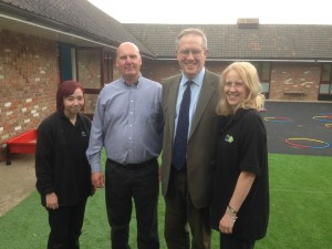 John Baron MP visits Banana Moon day nursery