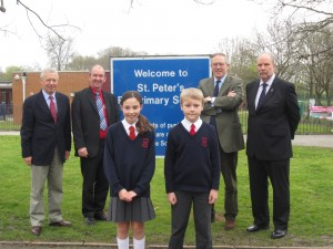 John Baron MP visits St Peter's Catholic Primary School re: Lollipop Man and School Meals