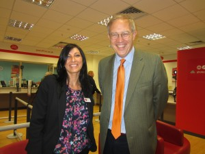 John Baron MP visits new Basildon Post Office