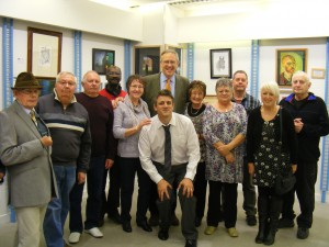 John Baron MP visits Eastgate Art Gallery Exhibition