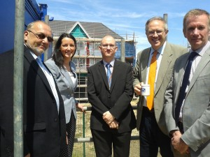 John Baron MP congratulates Swan Housing at Craylands 'Topping Out' ceremony
