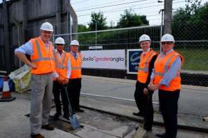 John Baron MP visits Billericay Station to mark start of works on additional passenger lift