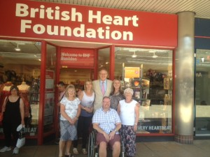 John Baron MP visits the British Heart Foundation Shop Eastgate Centre, Basildon