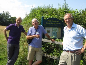 John Baron MP visits Mill Meadows Local Nature Reserve, Billericay