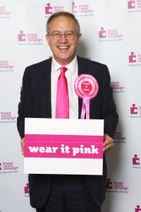 John Baron MP goes pink for breast cancer awareness