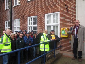 John Baron MP officially launches new defib unit