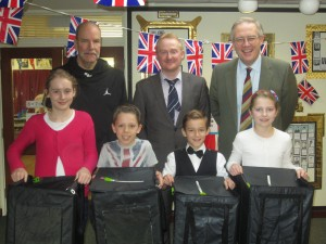 John Baron MP helps Quilters Junior School celebrate 'It's great to be British' week
