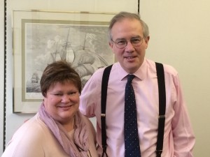 John Baron MP accepts petition from Linda Johnson
