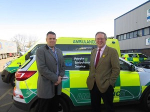 John Baron MP visits Private Ambulance Company