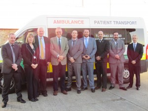 John Baron MP has officially opened new premises of The Private Ambulance Service