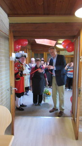 John Baron MP officially opens new Cornerstone Coffee Shop, Christ Church, Billericay